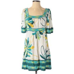 BCBGMAXAZRIA Tropical Print Boho Casual Dress